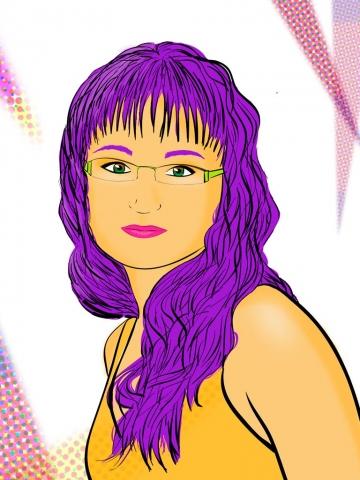 Ilustración Retrato Pop Art  Noa Design