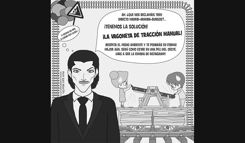 Ilustración para la Plataforma por el Ferrocarril Directo Madrid-Aranda-Burgos